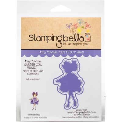 Stamping Bella Cut It Out Dies Tiny Townie - Garden Girl Violet